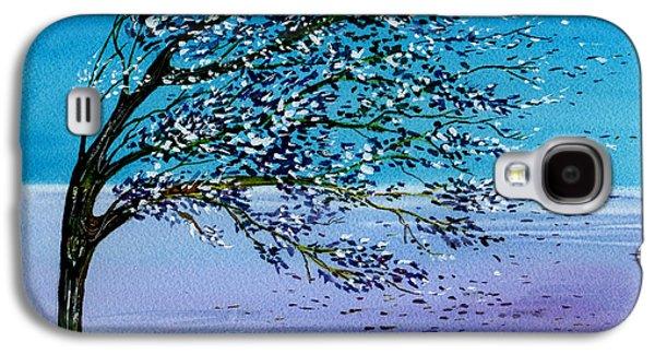 Windblown Paintings Galaxy S4 Cases - Windblown Galaxy S4 Case by Brenda Owen