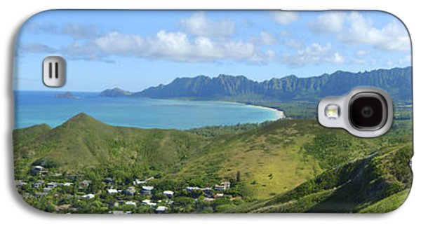 Pastureland Galaxy S4 Cases - Windward Oahu Panorama III Galaxy S4 Case by David Cornwell/First Light Pictures, Inc - Printscapes