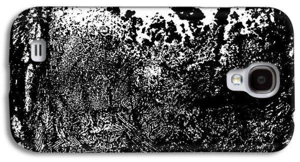 Linocut Drawings Galaxy S4 Cases - Windy Forest Galaxy S4 Case by Dariusz Gudowicz