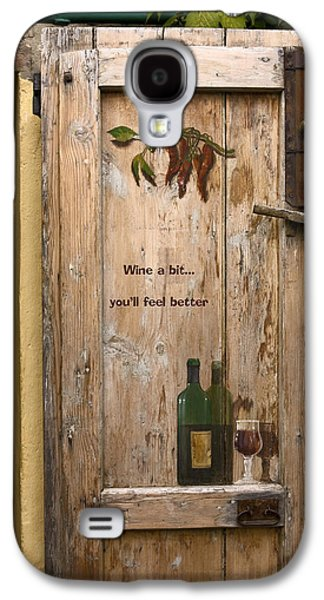 Large Antique Latches Galaxy S4 Cases - Wine a Bit Door Galaxy S4 Case by Sally Weigand