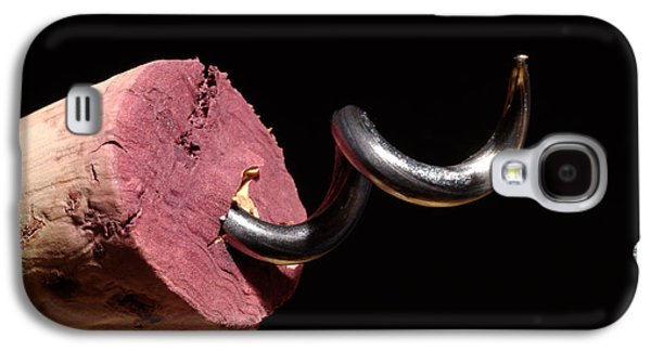 Wine Deco Art Galaxy S4 Cases - Wine Cork And Cork Screw Galaxy S4 Case by Frank Tschakert