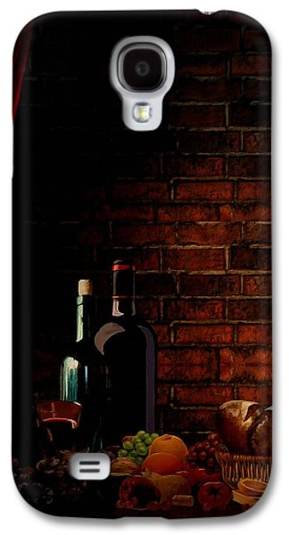 Grape Leaf Galaxy S4 Cases - Wine Lifestyle Galaxy S4 Case by Lourry Legarde