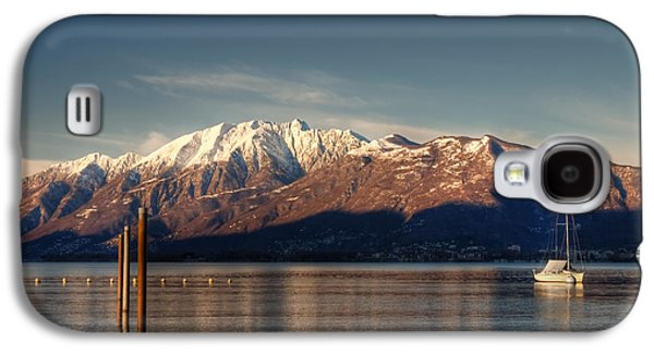 Transportation Photographs Galaxy S4 Cases - winter at the Lake Maggiore Galaxy S4 Case by Joana Kruse