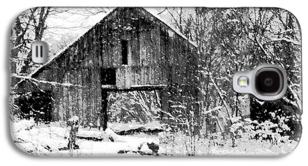 Old Barns Paintings Galaxy S4 Cases - Winter Barn Galaxy S4 Case by Ryan Burton