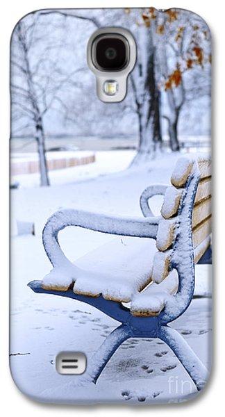 January Galaxy S4 Cases - Winter bench Galaxy S4 Case by Elena Elisseeva