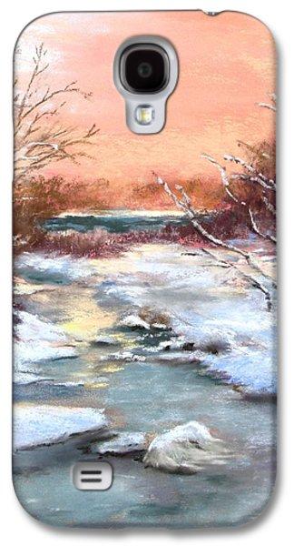 Winter Scene Pastels Galaxy S4 Cases - Winter Brook Galaxy S4 Case by Jack Skinner