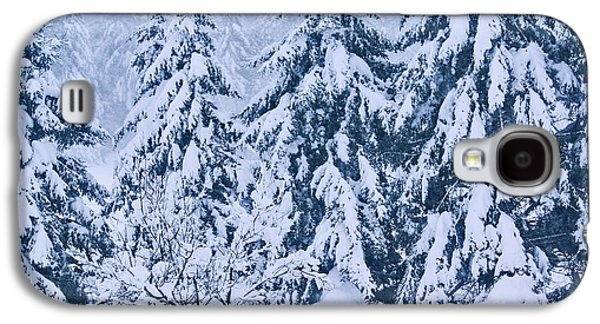 Snow Tree Prints Galaxy S4 Cases - Winter Coat Galaxy S4 Case by Aimelle
