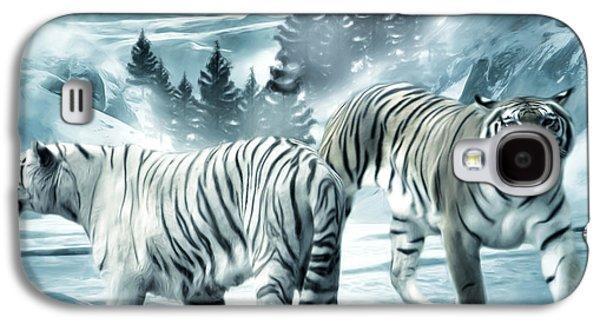 The Tiger Galaxy S4 Cases - Winter Deuces Galaxy S4 Case by Lourry Legarde