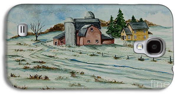 Winter Road Scenes Galaxy S4 Cases - Winter Down On The Farm Galaxy S4 Case by Charlotte Blanchard