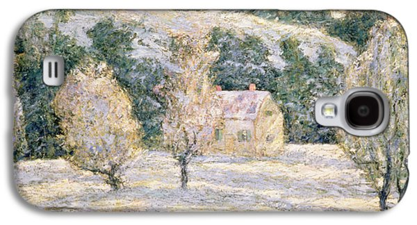 Snow Paintings Galaxy S4 Cases - Winter Galaxy S4 Case by Ernest Lawson