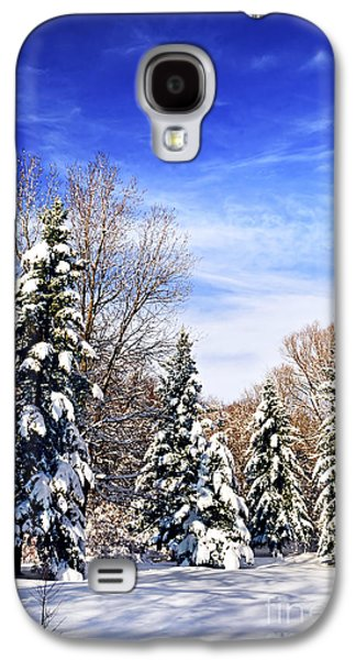 January Galaxy S4 Cases - Winter forest under snow Galaxy S4 Case by Elena Elisseeva