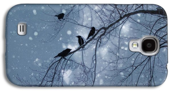 Nature Scene Digital Art Galaxy S4 Cases - Winter Hearts Galaxy S4 Case by Gothicolors Donna Snyder