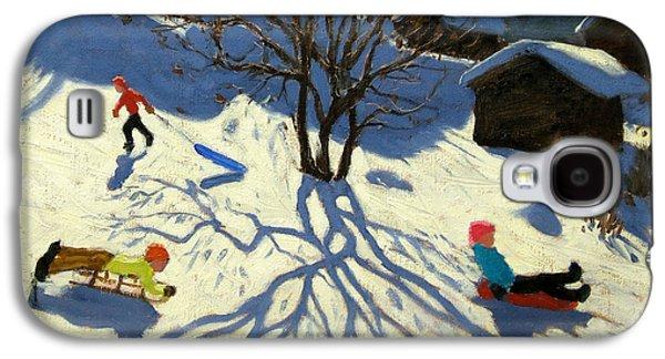 Winter Hillside Morzine France Galaxy S4 Case by Andrew Macara