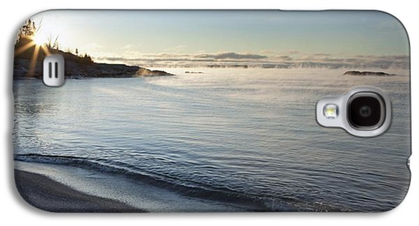 Design Pics - Galaxy S4 Cases - Winter Mist On Lake Superior At Sunrise Galaxy S4 Case by Susan Dykstra