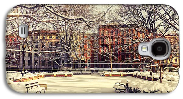 East Village Galaxy S4 Cases - Winter - New York City Galaxy S4 Case by Vivienne Gucwa