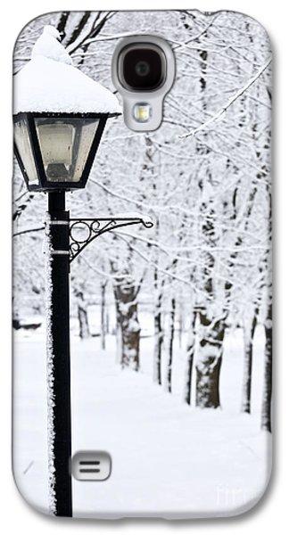 January Galaxy S4 Cases - Winter park Galaxy S4 Case by Elena Elisseeva