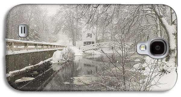 Maine Roads Galaxy S4 Cases - Winter Snowstorm In Somesville Maine Galaxy S4 Case by Keith Webber Jr