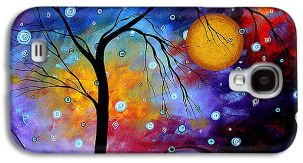 Abstract Canvas Galaxy S4 Cases - Winter Sparkle by MADART Galaxy S4 Case by Megan Duncanson