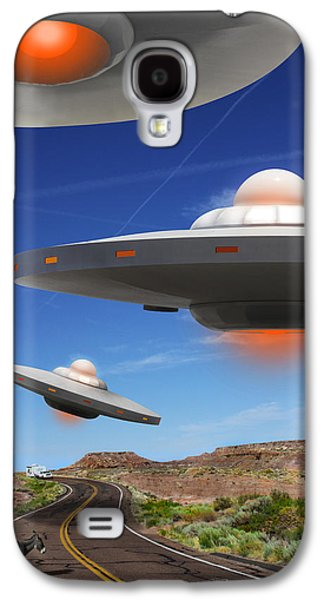 Donkey Digital Art Galaxy S4 Cases - WIP You Never Know What You will See On Route 66 Galaxy S4 Case by Mike McGlothlen