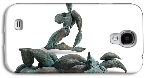 People Sculptures Galaxy S4 Cases - With Seed and Monarchs Hero Galaxy S4 Case by Adam Long