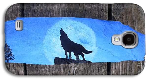 Grey Sculptures Galaxy S4 Cases - Wolf Howl1 Galaxy S4 Case by Monika Dickson-Shepherdson