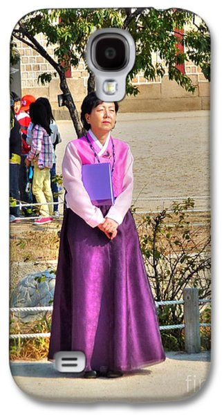 Contemplative Photographs Galaxy S4 Cases - Woman in Hanbok Galaxy S4 Case by Michael Garyet