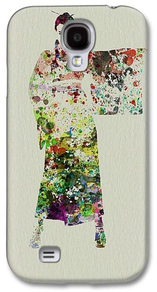 Girl Galaxy S4 Cases - Woman in Kimono Galaxy S4 Case by Naxart Studio