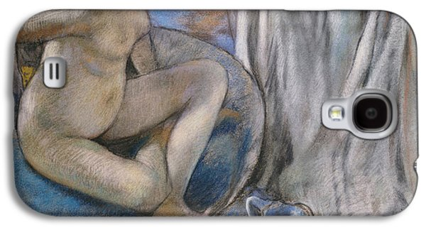 Nudes Pastels Galaxy S4 Cases - Woman in the Tub Galaxy S4 Case by Edgar Degas