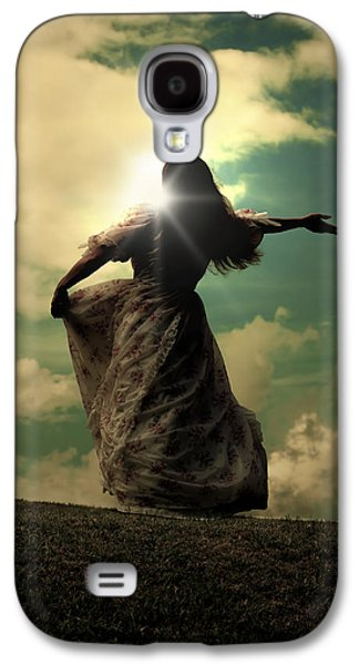 Person Galaxy S4 Cases - Woman On A Meadow Galaxy S4 Case by Joana Kruse