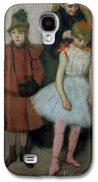 Woman With Two Little Girls Galaxy S4 Case by Edgar Degas
