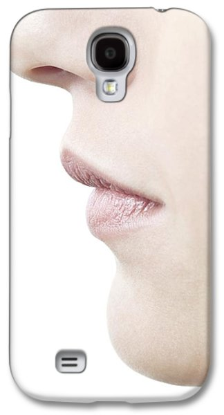 Chin Up Galaxy S4 Cases - Womans Nose And Mouth Galaxy S4 Case by