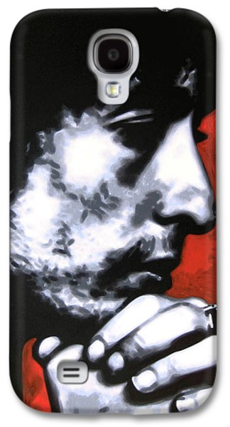 Rolling Stones Paintings Galaxy S4 Cases - Wondering if shed changed at all if her hair was still red Galaxy S4 Case by Luis Ludzska