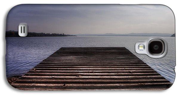 Docked Boat Galaxy S4 Cases - Wooden Bridge Galaxy S4 Case by Joana Kruse