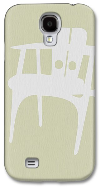 Rocking Chairs Galaxy S4 Cases - Wooden Chair Galaxy S4 Case by Naxart Studio