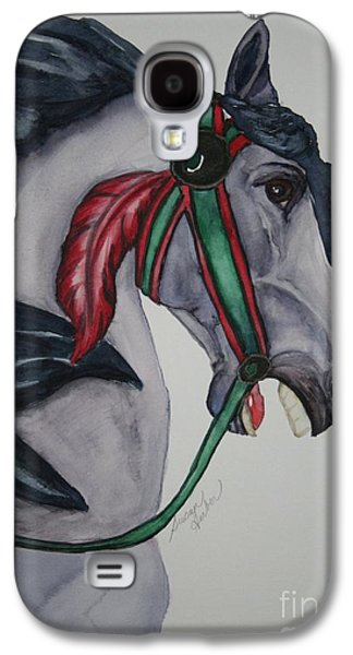 Carousel Horse Paintings Galaxy S4 Cases - Wooden Warrior I Galaxy S4 Case by Susan Herber