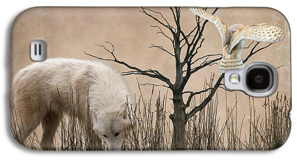 Wolves Digital Galaxy S4 Cases - Woodland Wolf Galaxy S4 Case by Sharon Lisa Clarke