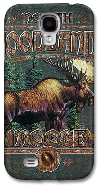 Pine Tree Galaxy S4 Cases - Woodlands Moose Galaxy S4 Case by JQ Licensing