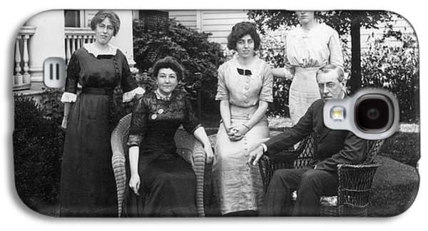 First Lady Galaxy S4 Cases - Woodrow Wilson Family Galaxy S4 Case by Granger