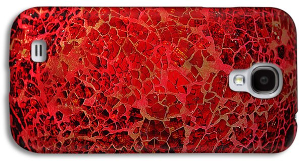 Abstract Digital Galaxy S4 Cases - World on fire Galaxy S4 Case by Kaye Menner