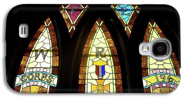 Portraits Glass Art Galaxy S4 Cases - WRC Stained Glass Window Galaxy S4 Case by Thomas Woolworth