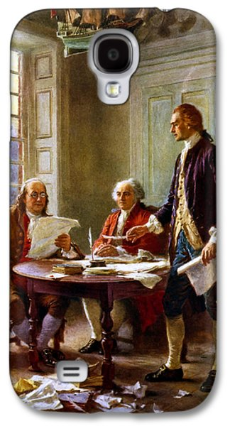 United States Galaxy S4 Cases - Writing The Declaration of Independence Galaxy S4 Case by War Is Hell Store