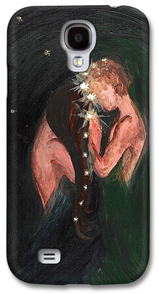 Constellations Paintings Galaxy S4 Cases - Written in the Stars Galaxy S4 Case by Sheri Lauren Schmidt