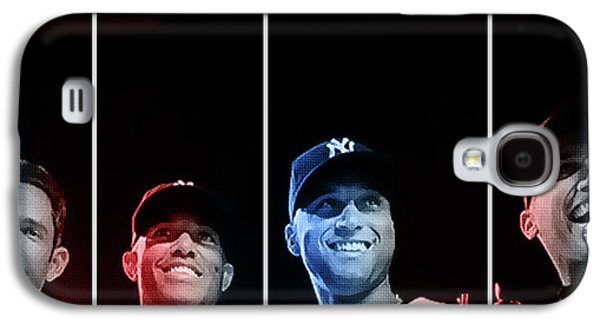 News Mixed Media Galaxy S4 Cases - Yankee Core Four by GBS Galaxy S4 Case by Anibal Diaz