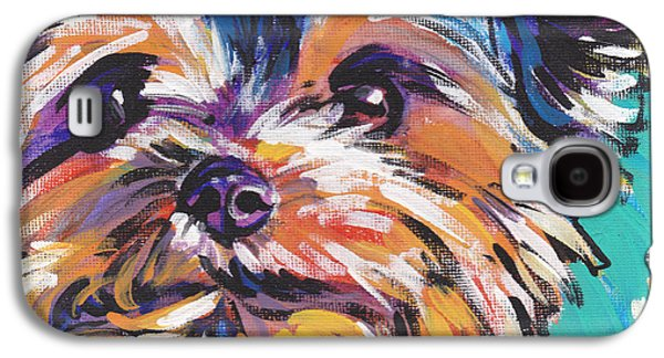 Pet Galaxy S4 Cases - Yay Yorkie  Galaxy S4 Case by Lea