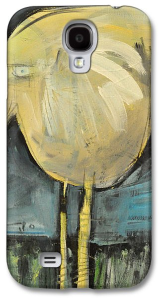 Yellow Beak Paintings Galaxy S4 Cases - Yellow Bird In Field Galaxy S4 Case by Tim Nyberg