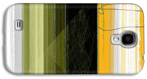 Abstract Forms Galaxy S4 Cases - Yellow Rain Galaxy S4 Case by Naxart Studio