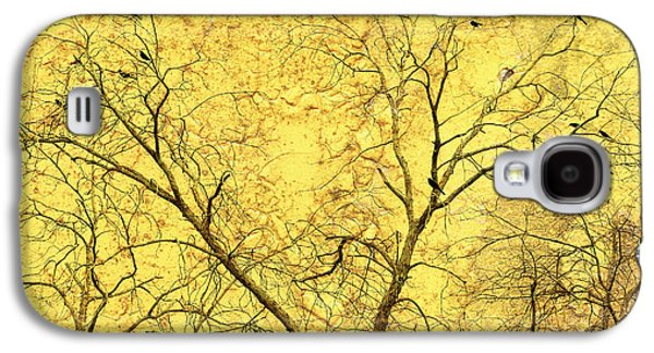 Abstract Digital Art Galaxy S4 Cases - Yellow Wall Galaxy S4 Case by Skip Nall