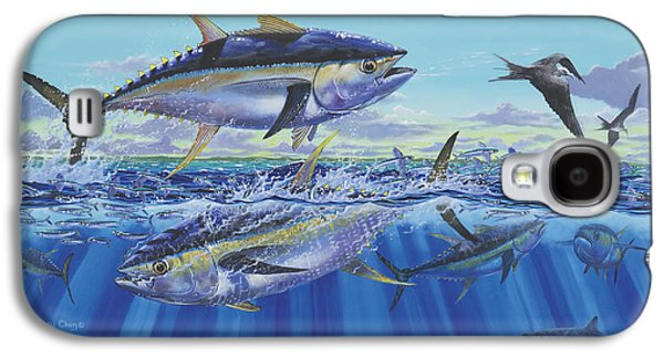 Sharks Paintings Galaxy S4 Cases - Yellowfin Bust Galaxy S4 Case by Carey Chen