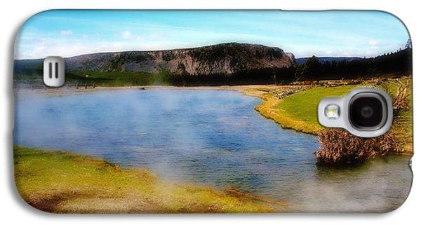 Yellowstone Digital Galaxy S4 Cases - Yellowstone Landscape Galaxy S4 Case by Ellen Heaverlo