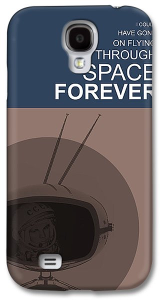 Sound Digital Galaxy S4 Cases - Yuri Gagarin Poster Galaxy S4 Case by Naxart Studio